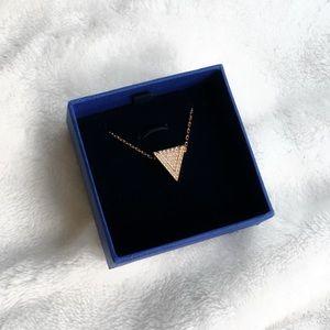 Swarovski Delta Rose Gold Necklace